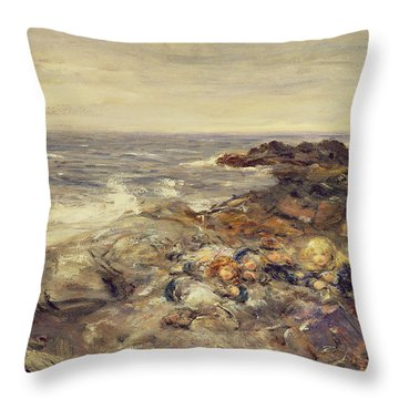 Flotsam And Jetsam Throw Pillow by William McTaggart