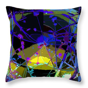 Flower Abstract Throw Pillow by Anne Mott