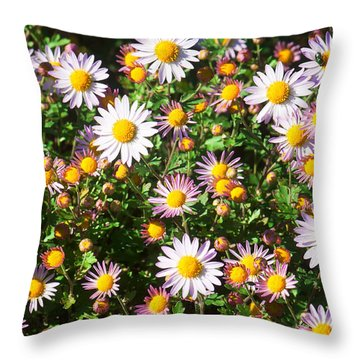 Throw Pillow featuring the photograph Flower Assault by Jim Moore