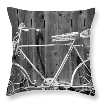 Throw Pillow featuring the photograph Flower Bike by Lisa Brandel
