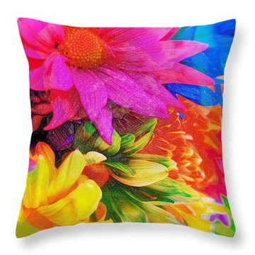 Flower Box Throw Pillow by Empty Wall
