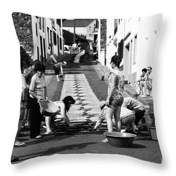 Flower Carpets Throw Pillow by Gaspar Avila