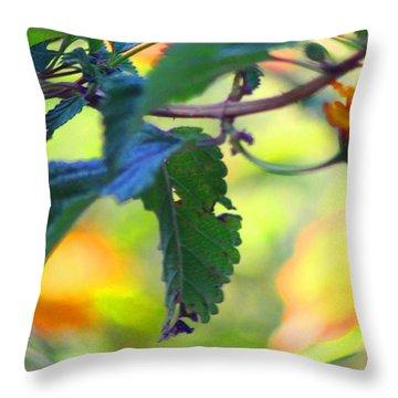 Throw Pillow featuring the photograph Flower Droplet by Carolina Liechtenstein