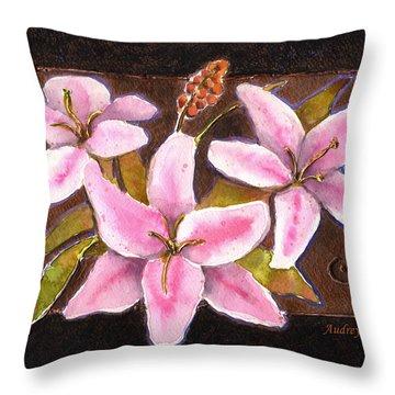 Flower Icon Throw Pillow