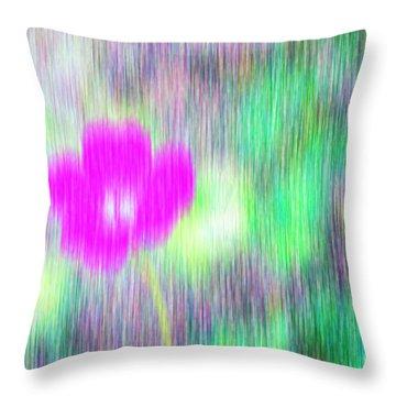 Flower In The Rain Throw Pillow by Silvia Ganora