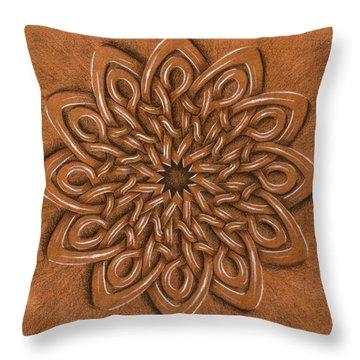 Flower Mandala Throw Pillow by Hakon Soreide