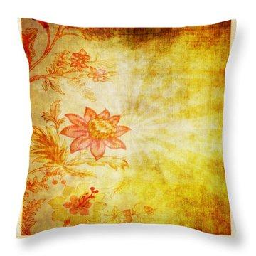 Flower Pattern Throw Pillow by Setsiri Silapasuwanchai