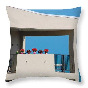 Throw Pillow featuring the photograph Flower Pots Five by John Schneider