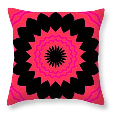Throw Pillow featuring the digital art Flower Power by Carolyn Repka