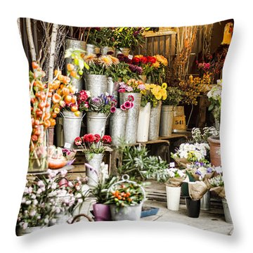Flower Shop Throw Pillow by Heather Applegate