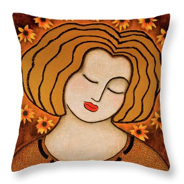 Flowering Intuition Throw Pillow