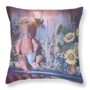 Flowerpotman Throw Pillow