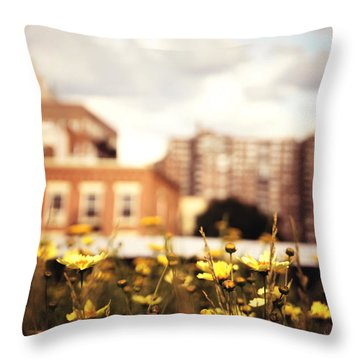 Flowers - High Line Park - New York City Throw Pillow by Vivienne Gucwa