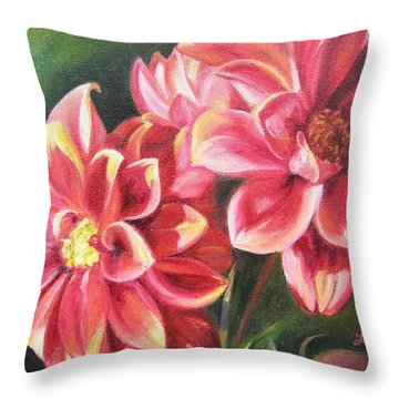Flowers For Mom I Throw Pillow