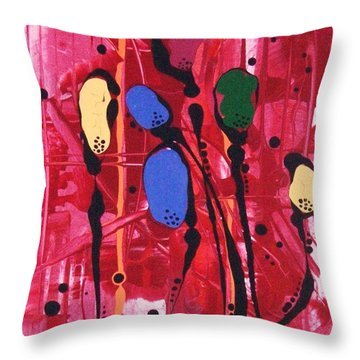 Flowers For Vincent Throw Pillow