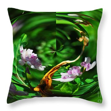 Flowers Gone Wild Throw Pillow by Cindy Manero