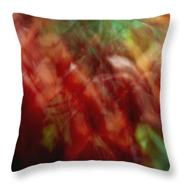 Flowers In The Wind 2 Throw Pillow by Skip Nall