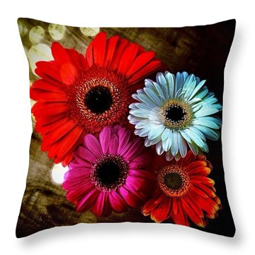 Flowers Part 3 Throw Pillow by Andre Brands