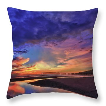 Flowing Out To The Ocean Throw Pillow