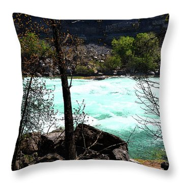 Throw Pillow featuring the photograph Flowing Streams by Pravine Chester