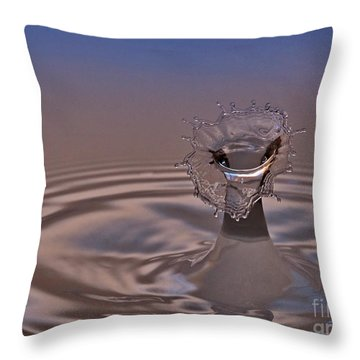 Fluid Flower Throw Pillow by Susan Candelario