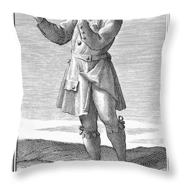 Flute, 1723 Throw Pillow by Granger