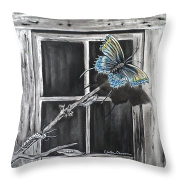 Fly Away Free Throw Pillow by Carla Carson