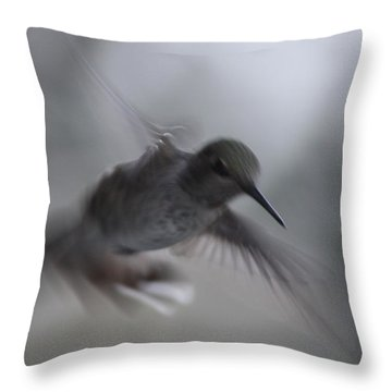 Throw Pillow featuring the photograph Fly By by Cathie Douglas