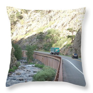 Fly Fishing In Colorado Throw Pillow by Randy J Heath