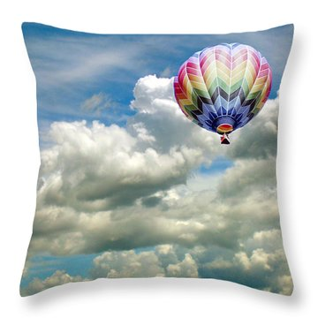 Flying High Throw Pillow by Bonnie Muir