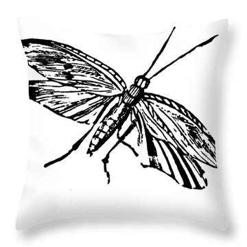 Flying Insect Throw Pillow by Granger