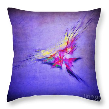 Flying Into The Sun Throw Pillow by Judi Bagwell