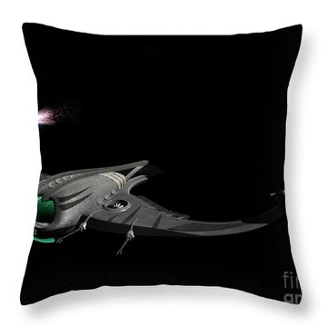 Flying Machine Inspired By The Martians Throw Pillow by Rhys Taylor