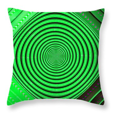 Focus On Green Throw Pillow by Carolyn Marshall