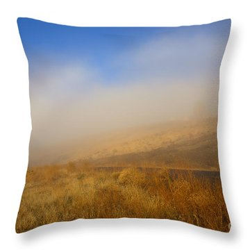 Fog Bow At Lookout Point Throw Pillow by Mike  Dawson