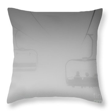 Fog Throw Pillow by Eunice Gibb