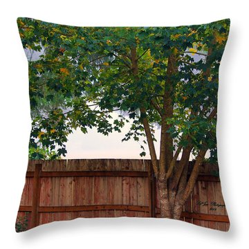 Throw Pillow featuring the photograph Fog In Olympia II by Jeanette C Landstrom