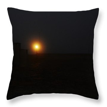 Fog In San Salvador Throw Pillow