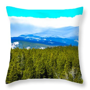 Throw Pillow featuring the photograph Fog In The Rockies by Shannon Harrington