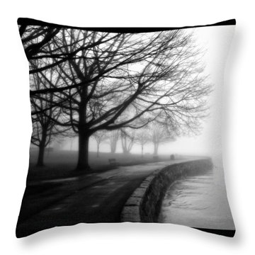 Foggy Day H-1 Throw Pillow by Mauro Celotti