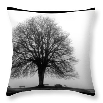 Foggy Day H-5 Throw Pillow by Mauro Celotti