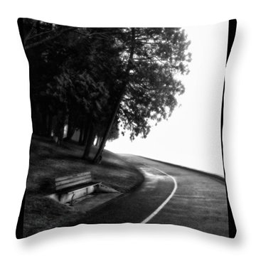 Foggy Day V-4 Throw Pillow by Mauro Celotti
