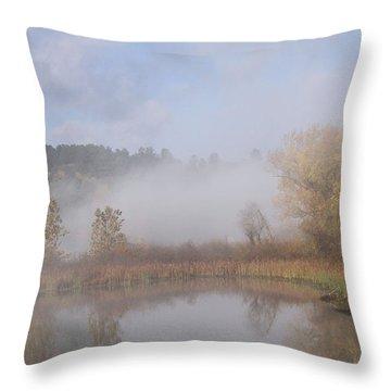 Foggy Morning  Throw Pillow by Doris Potter