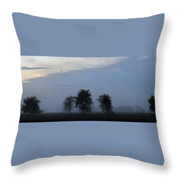Foggy Pennsylvania Treeline Throw Pillow