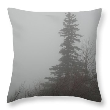 Foggy Sentinel Throw Pillow by Skip Willits