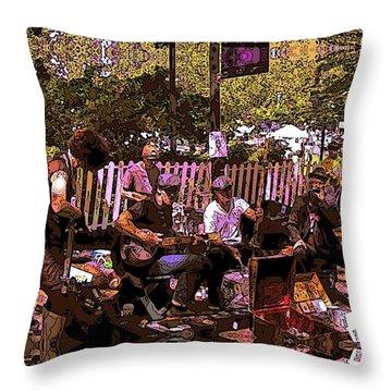 Folklife Buskers Throw Pillow
