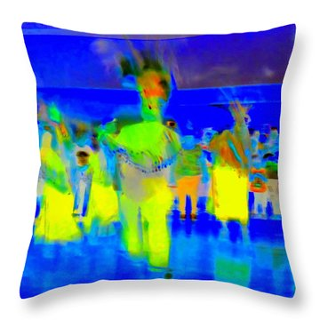 Folklorico 2 Throw Pillow by Randall Weidner