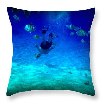 Throw Pillow featuring the photograph Follow Me  by Danielle  Parent