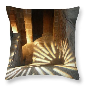Follow The Light-stairs Throw Pillow