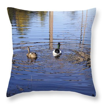 Following Theirs Path By Line Gagne Throw Pillow by Line Gagne